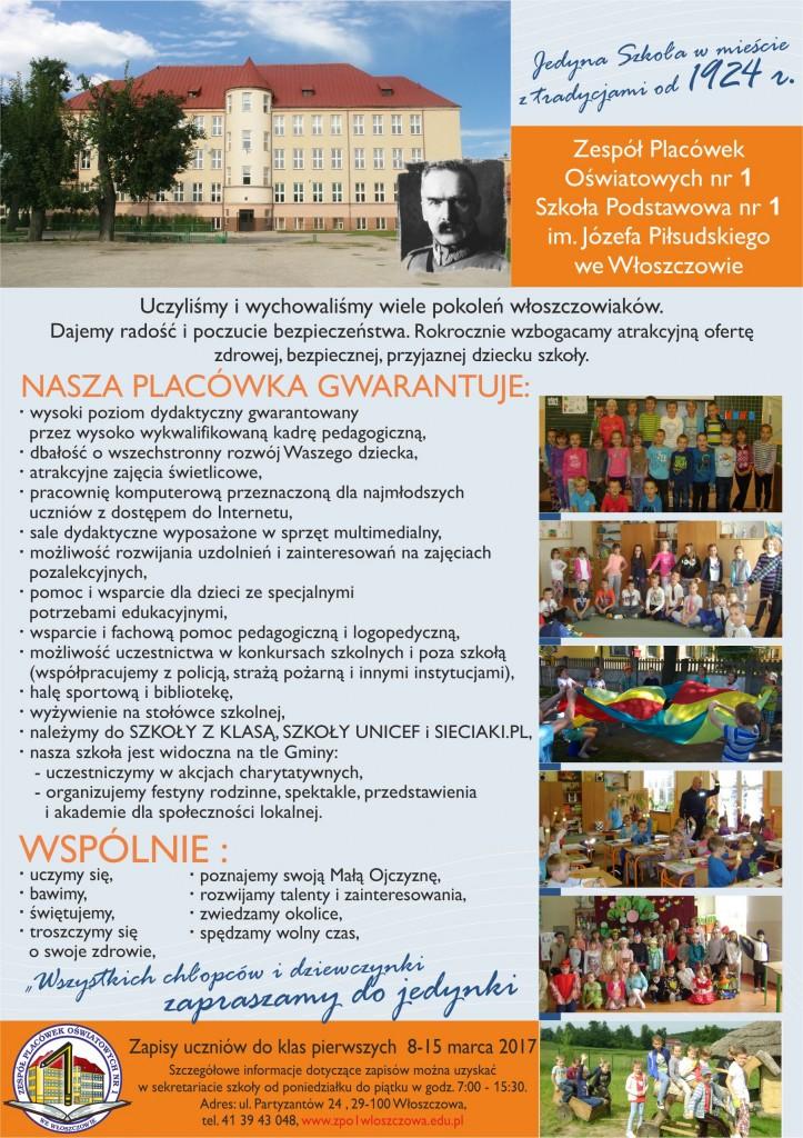 plakat ZPO SZKOŁA NR 1 2017 PILSUDSKI (1)